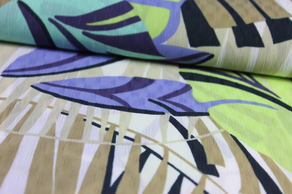 Blusen-/ Kleiderstoff Dschungel, apfel- grün