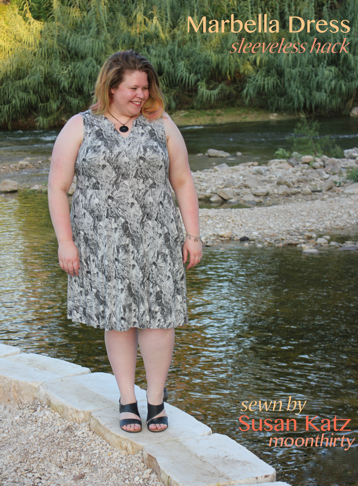 Marbella Dress sewing pattern by Blank Slate Patterns sewn by moonthirty