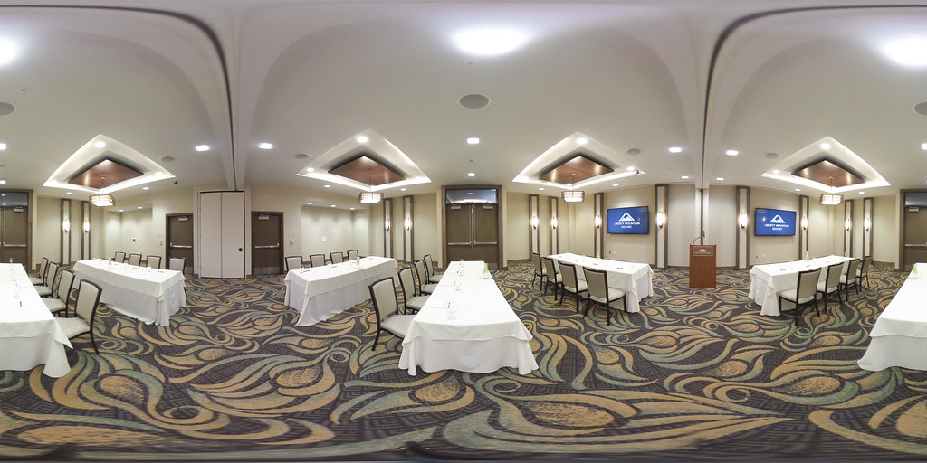 Image: 360-degree image of the Millstone Room in the Highland Lodge
