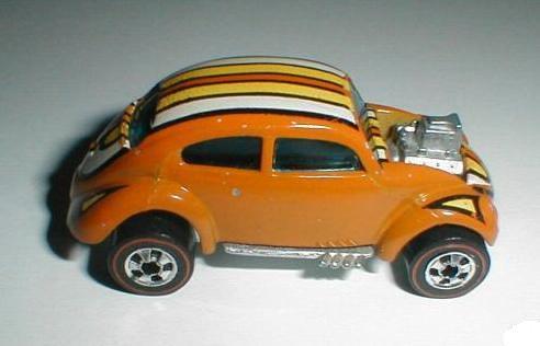Vw Bug Hot Wheels Redline Us Custom With Stripes Alan