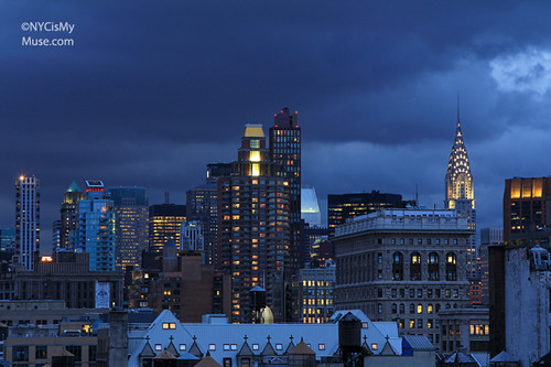 Chrysler Building, Flatiron, cloudy skies near sunset | by NYCisMyMuse