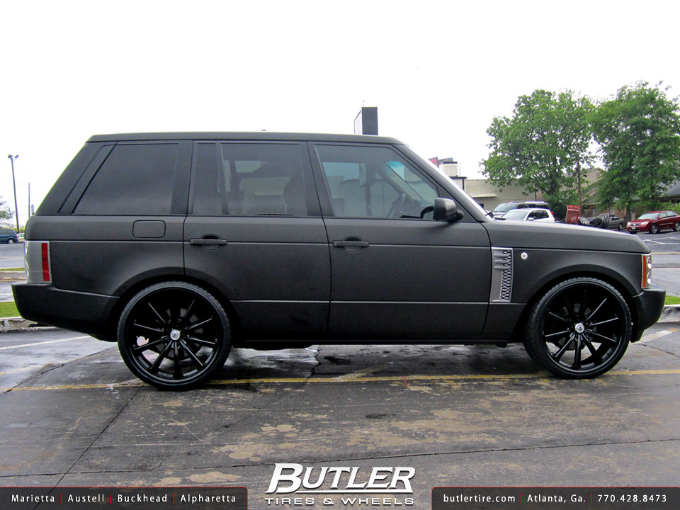 Range Rover Atlanta >> Matte Black Range Rover HSE with 24in Lexani CVX55 Wheels | Flickr