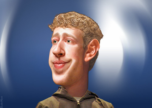 Mark Zuckerberg - Caricature | by DonkeyHotey