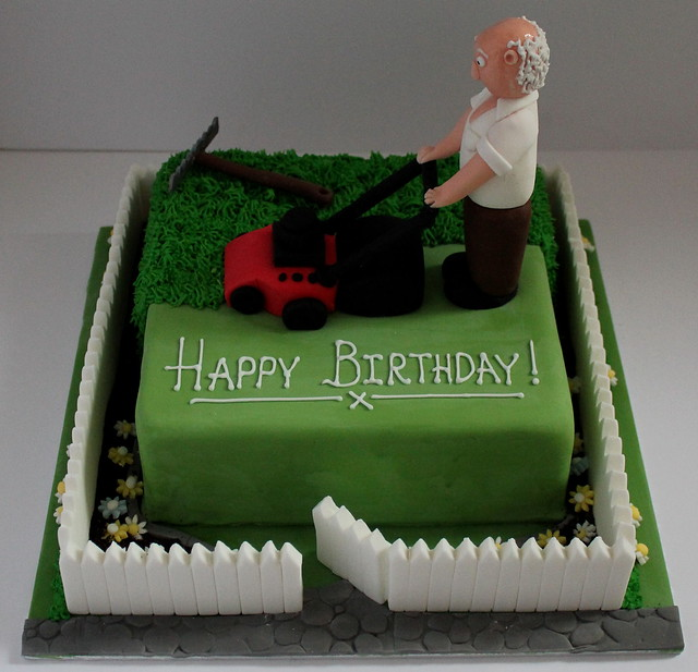 Gardeners birthday cake explore pauls creative cakes for Gardening 80th birthday cake