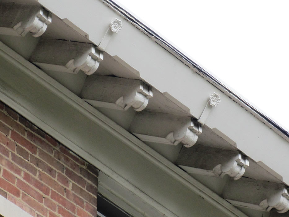 roof brackets and guttering by saint mary of the woods college - Roof Brackets