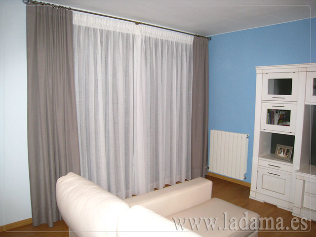 Doble cortina flickr photo sharing - Cortinas dobles para salon ...