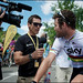 World Champion Mark Cavendish stopped in his tracks by none other than Robbie McEwen