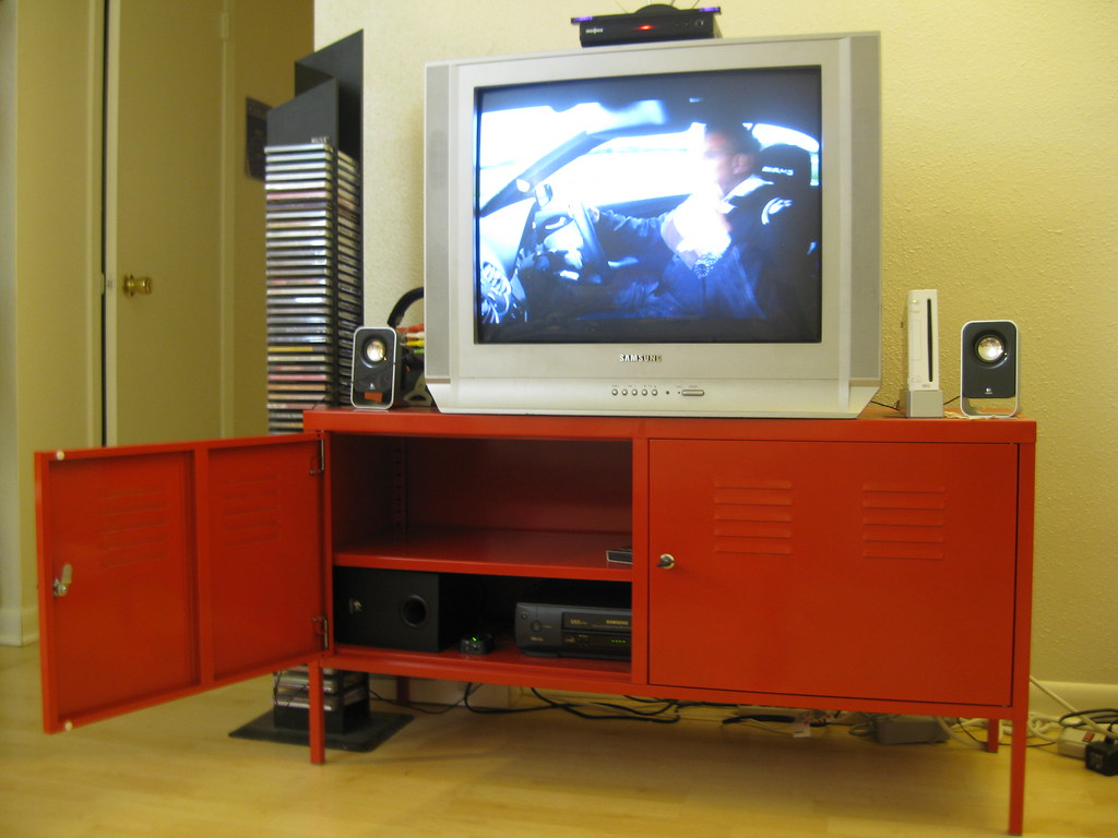 SOLD IKEA PS Red Tv Stand 3 3