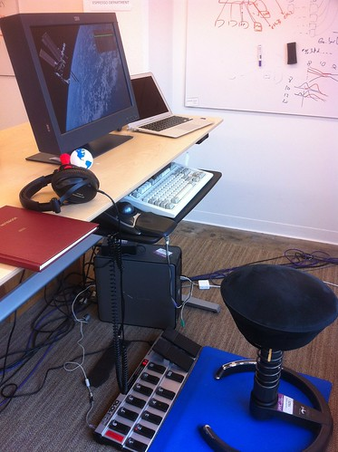 Standing desk with foot pedals | by hudson