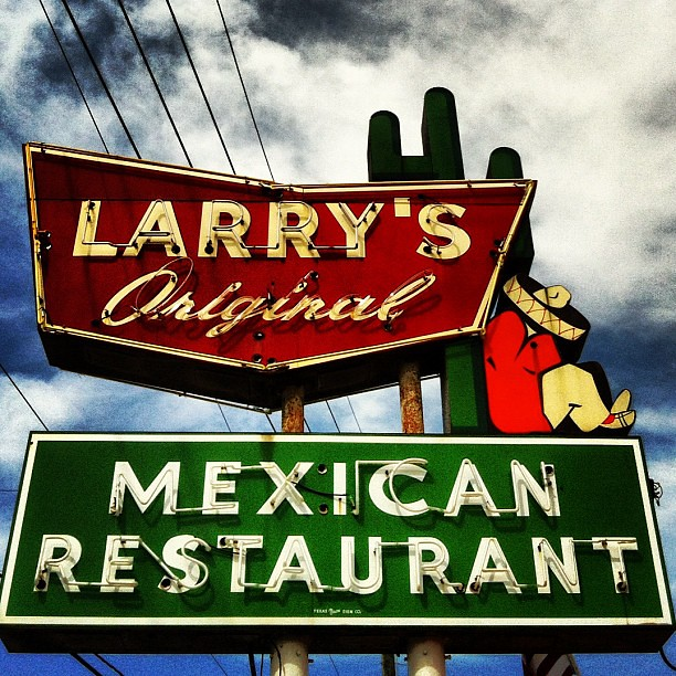 Vintage Neon Sign For Larry S Mexican Restaurant In Richmo