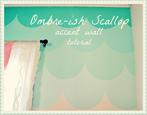 DIY Ombre Scalloped wall tutorial | by Free Pretty Things For You!