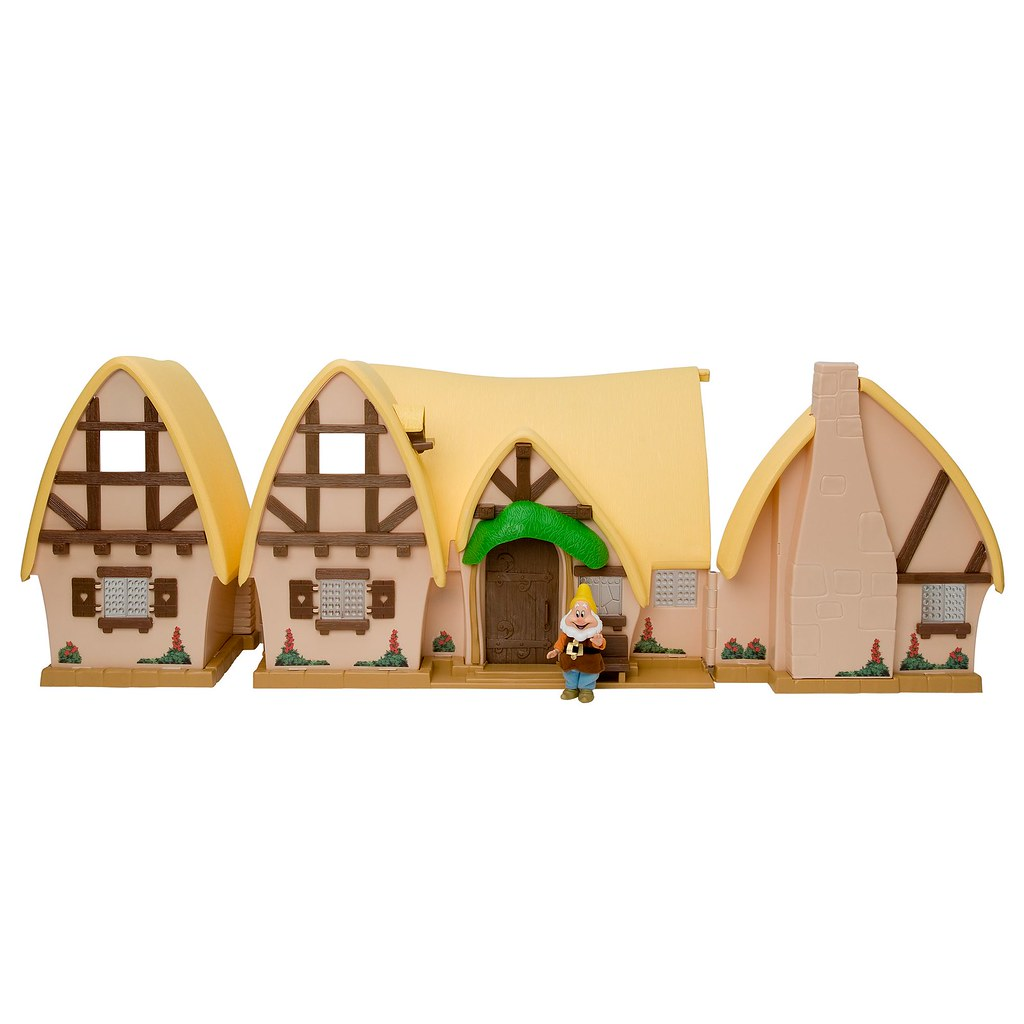 2009 Snow White And The Seven Dwarfs Cottage Play Set Di