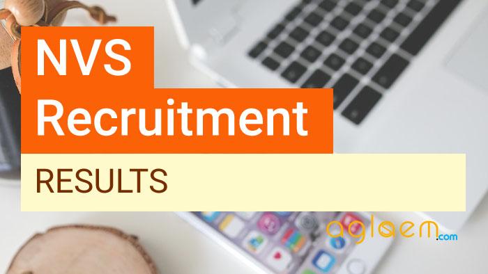 NVS Result 2018   Navodaya Vidyalaya Result   Check Here