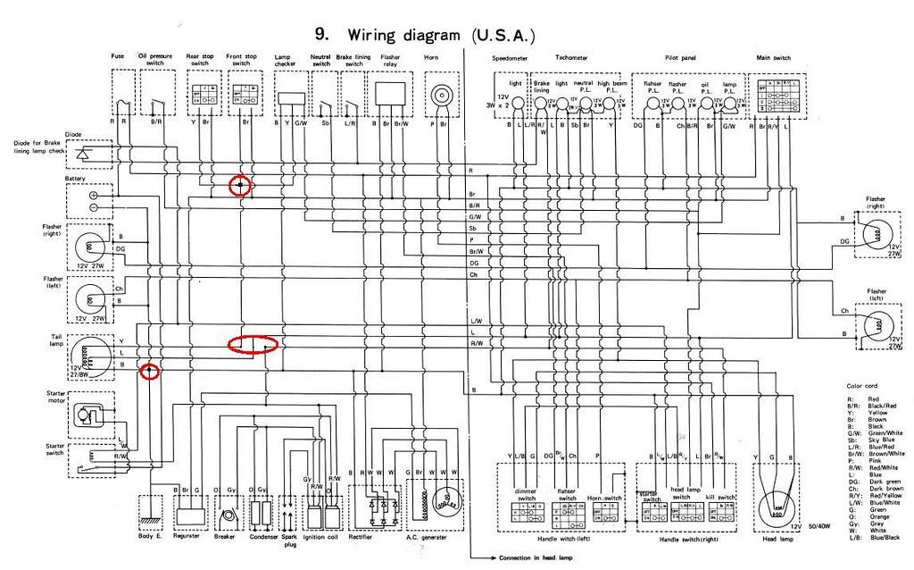 Tx500 Wiring Diagram Yamaha Serv Man