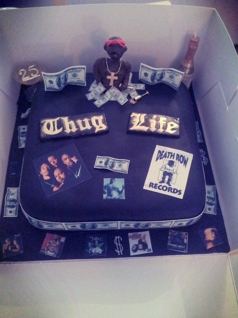 Tupac Cake For My Cousins Birthday Michelle Moreland Flickr