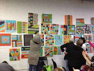 Portland Modern Quilt Guild - Michael Miller Cotton Couture Modern Block Challenge | by Happy Zombie