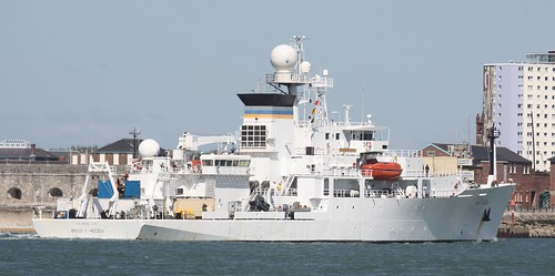 USNS Bruce C. Heezen Arriving in Portsmouth | by Keith Fuller