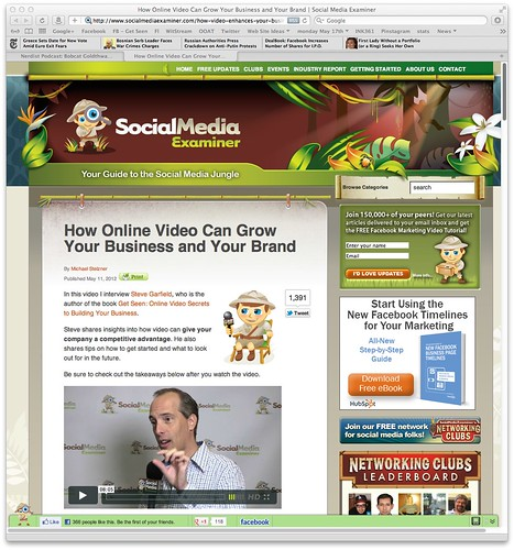 How Online Video Can Grow Your Business and Your Brand | Social Media Examiner | by stevegarfield