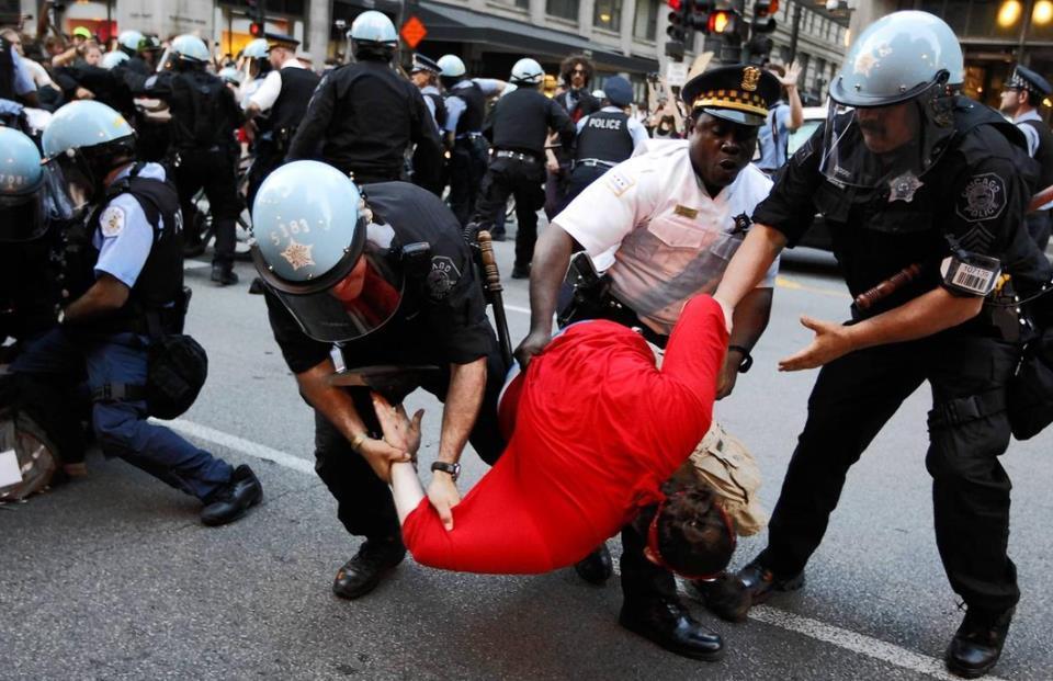 Chicago NATO 5 19 arrests