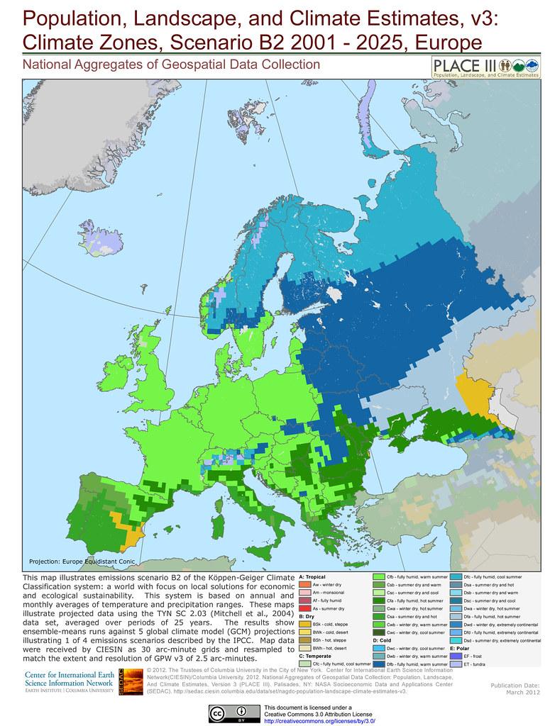 Climate Zones, Scenario B2 2001 - 2025, Europe | This map il… | Flickr