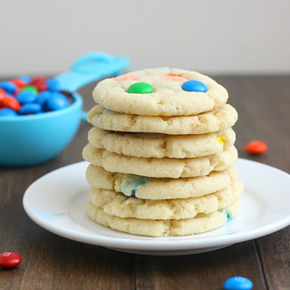 Chewy M&M Sugar Cookies | by Tracey's Culinary Adventures