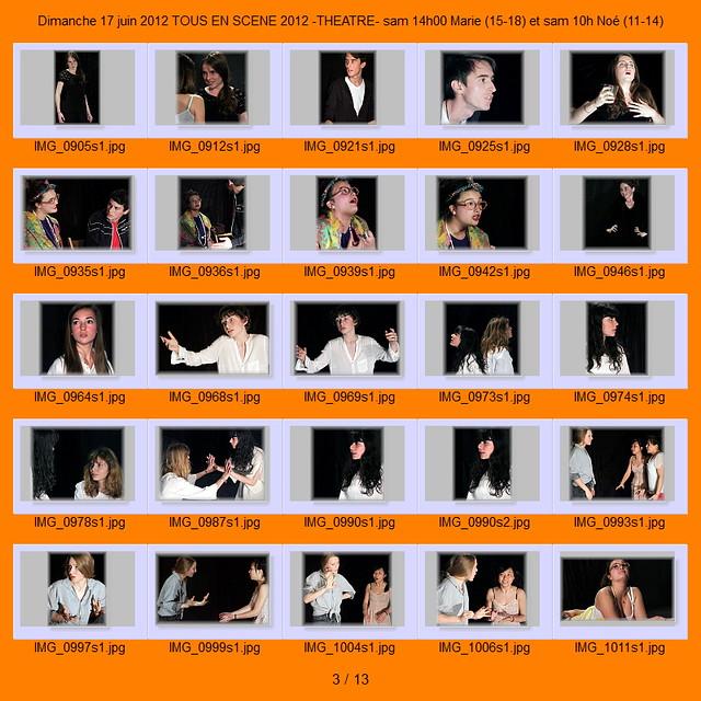 Dimanche 17 juin 2012 tous en scene 2012 theatre sam 14h00marie et