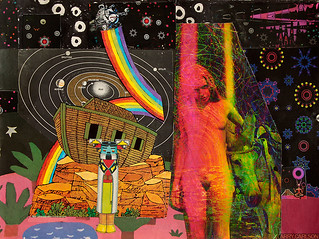 LARRY CARLSON, Von Arx, collage on paper, 14x12in., 2012. | by LARRY  CARLSON