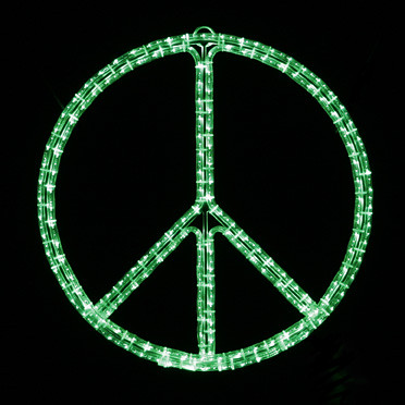 Peace Sign Indoor Outdoor Led Wall Light An Updated