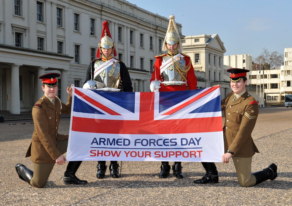 Soldiers From The Blues And Royals And The Lifeguards Hold