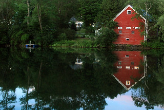 red barn from the floating bridge | by placeinsun