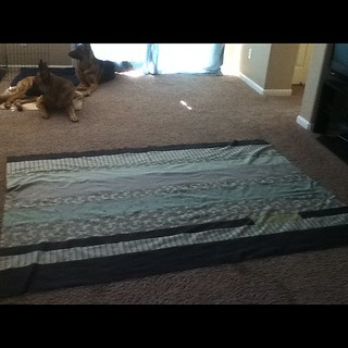 Gramps quilt in progress. It is about half way done | by Jenniffier