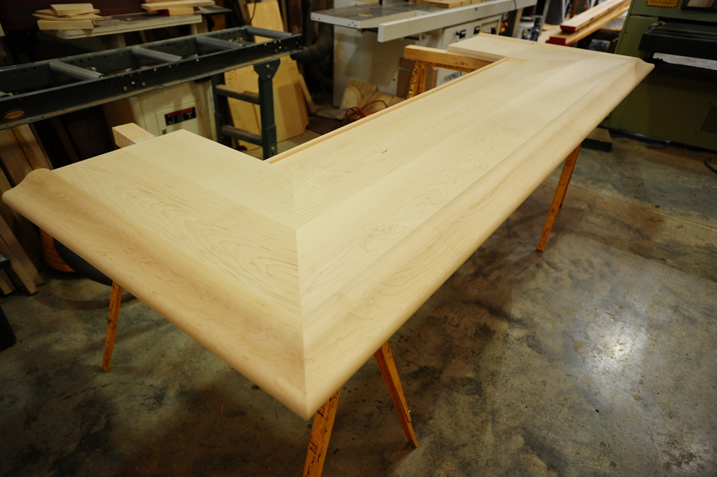 Beau By HardwoodsIncorporated Custom Hard Maple Bar Top Featuring Our BR 475  Chicago Bar Rail. | By HardwoodsIncorporated