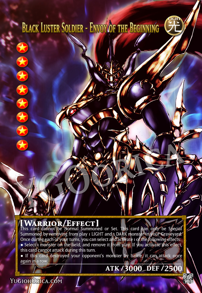 Black Luster Soldier Envoy Of The Beginning Yugioh Orica