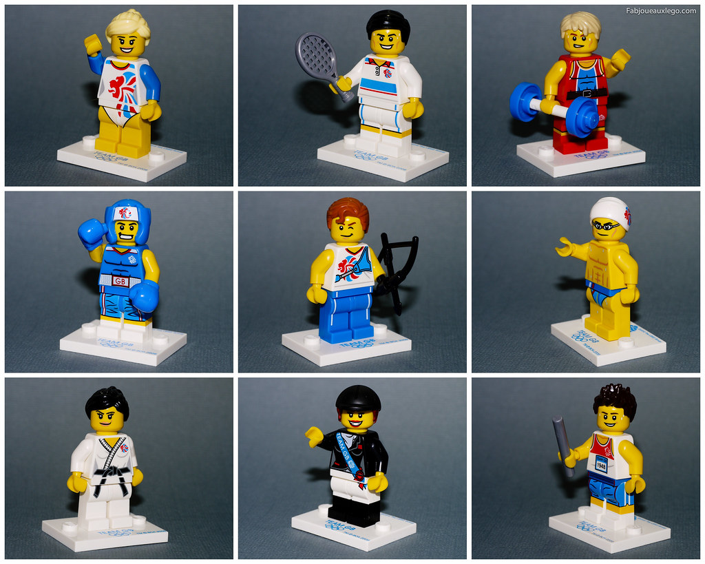 Team GB 8909 - Olympic Minifigures Review   Watch out full ...