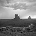 Storm on Monument valley