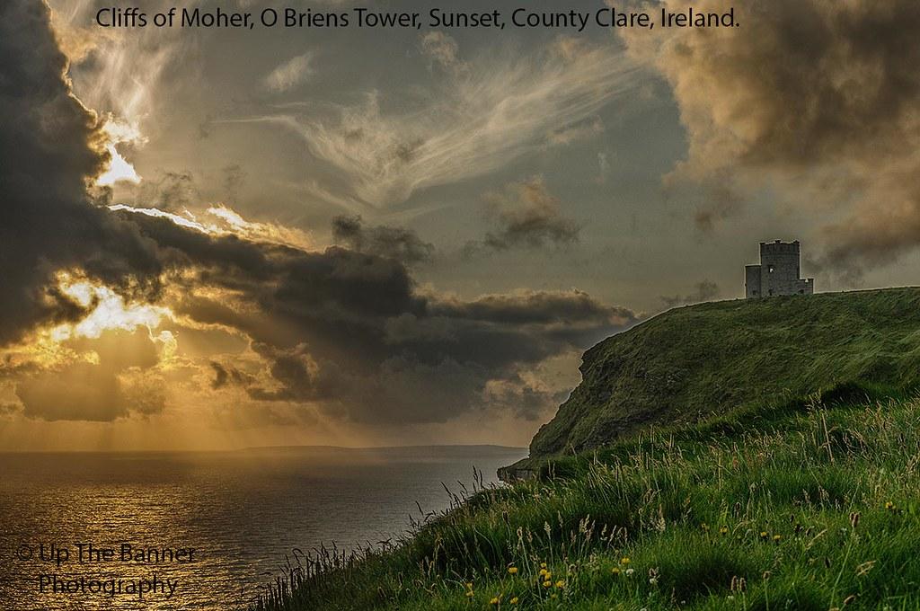 Scenic Irish Sunset Nature Landscape Rural Countryside Pho
