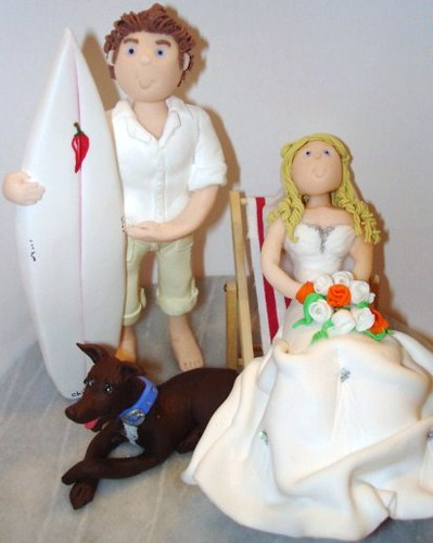 surfer wedding cake topper surf board fimo wedding cake topper personalised wedding 20657
