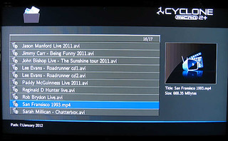 SumVision Cyclone Micro 2+ HD Media Player file selection screen | by comedyhunter