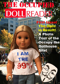 Front cover of The Occupied Doll Reader | by kimsworldofart