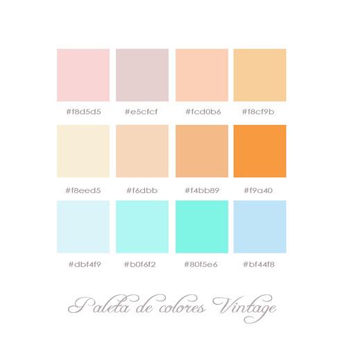 Paleta vintage os dejo una paleta vintage si quer is for What are pastel colors