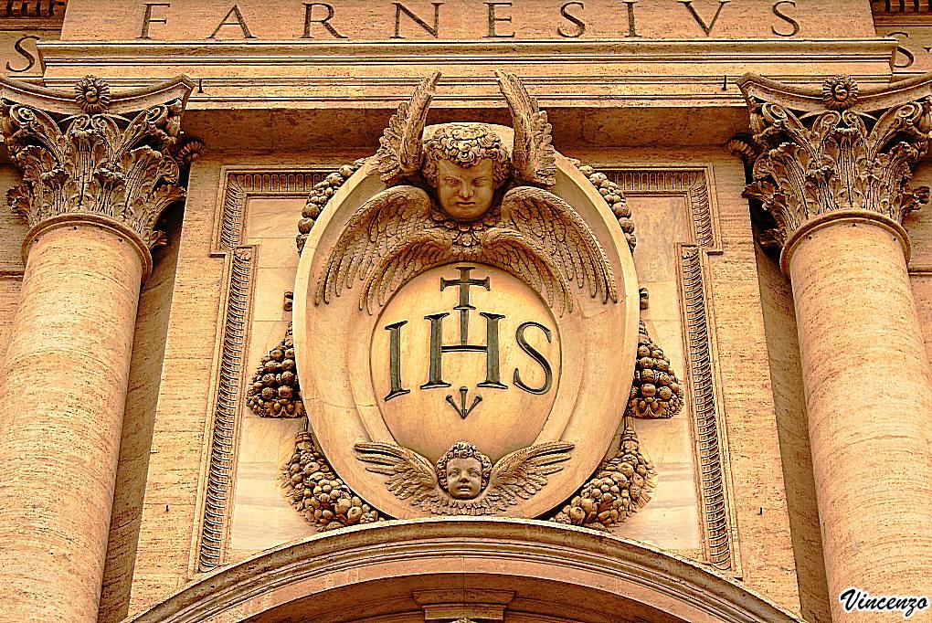ihs monogram   church of the ges u00f9   rome