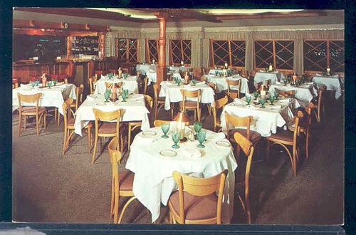 postcard interior Marquis Restaurant at 8240 Sunset Strip in Hollywood, California. | by richardschave