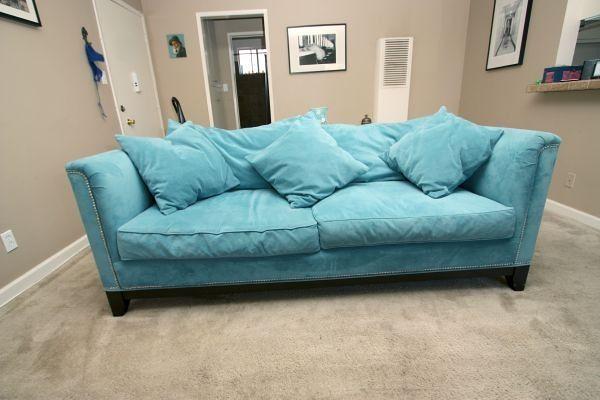 500 z gallerie pauline sofa in aqua 1199 500 z for Cloud sectional sofa z gallerie
