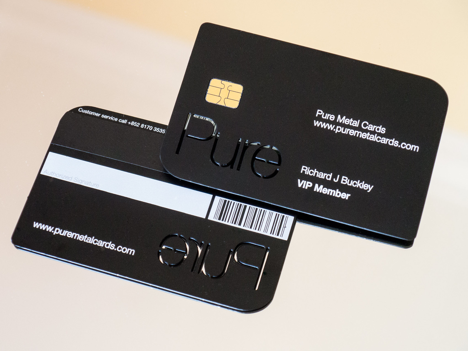matte black stainless steel business cards
