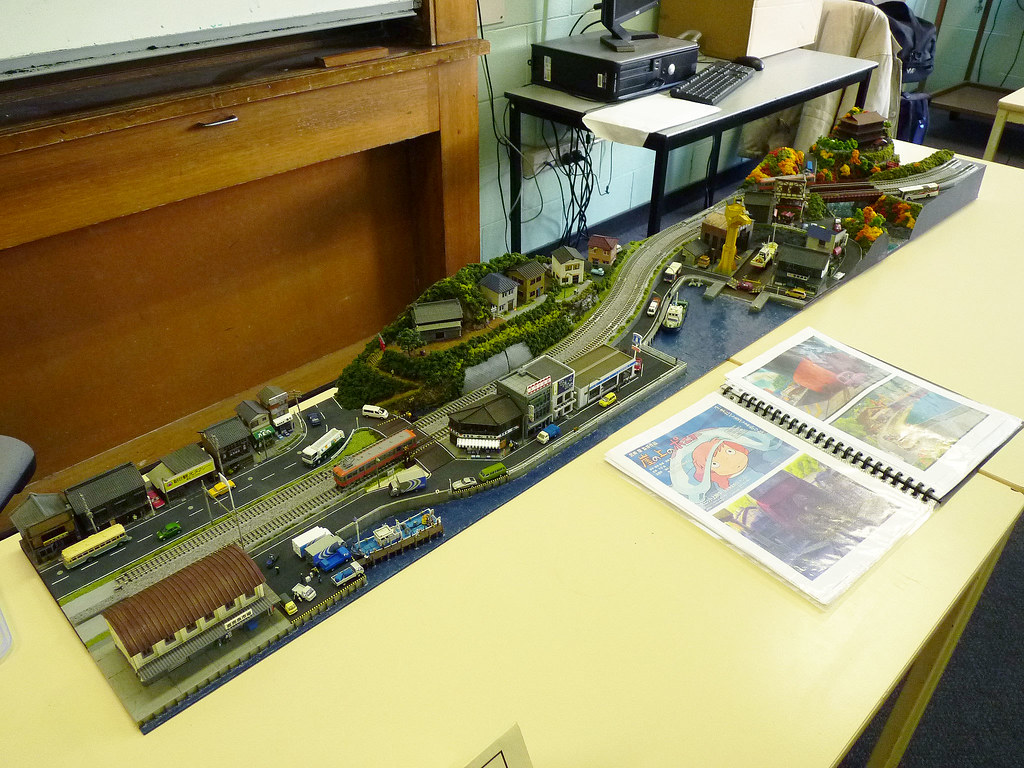 Japanese Model Railway N Gauge Diorama 鉄道模型 鉄道情景 Overall