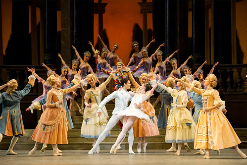 Lauren Cuthbertson as Cinderella, Federico Bonelli as the Prince, and artists of the Royal Ballet in Cinderella © Tristram Kenton/ROH 2011 | by Royal Opera House Covent Garden