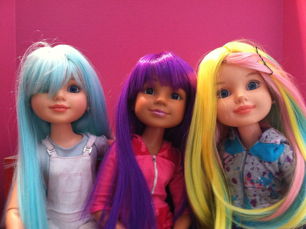 bfc ink dolls with new hair all three girls sporting
