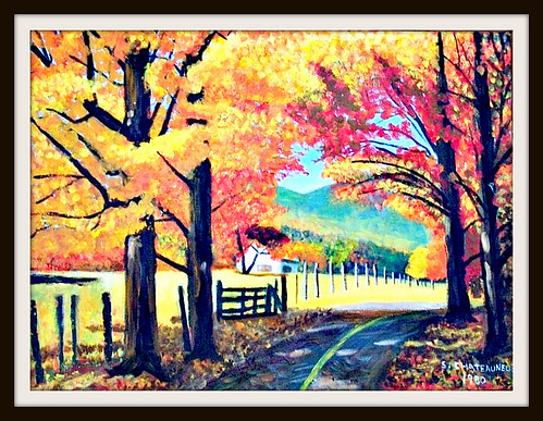Paintings of Autumn Scenes Autumn Scene Painting by