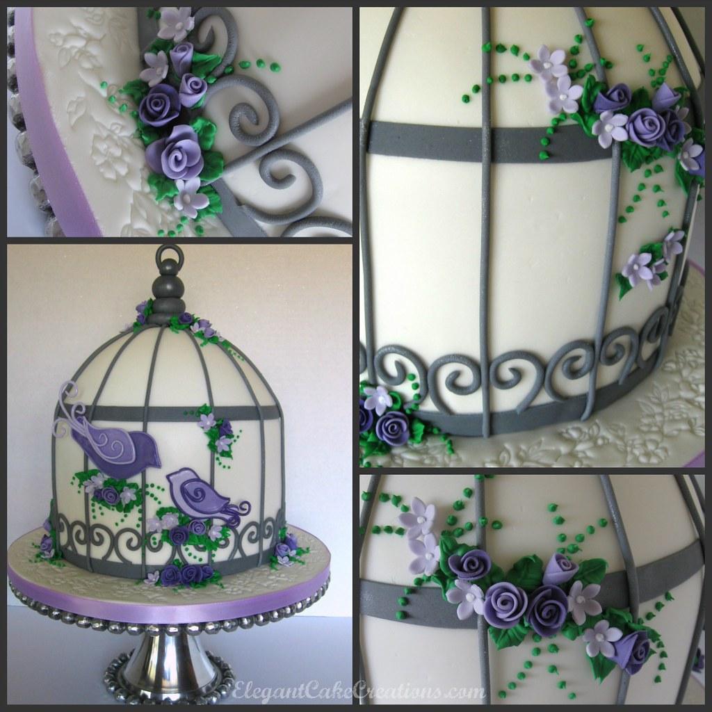Birdcage Baby Shower Cake