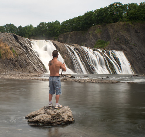 Fishing at Cohoes Falls-2688 | by chuckthewriter